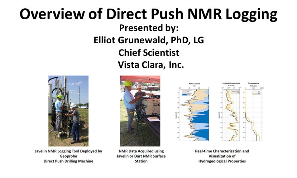 Watch New Video on Direct Push and NMR Logging – presented by Elliot Grunewald